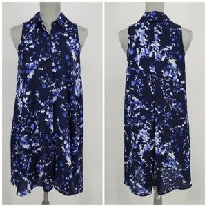 Adrianna Papell Floral Swing Shirt Dress Sz 2
